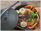 Сковорода для цыпленка табака с прессом и винтом Литтех