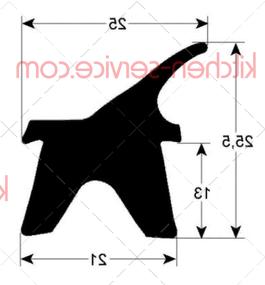 Уплотнитель дверной 2402 MODULAR (RRC2215-03)