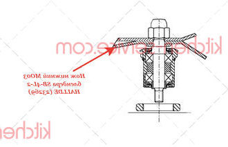 Нож нижний MO03 блендера SB-4L-2 HALLDE (23269)