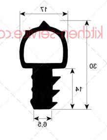 Уплотнитель дверной 700x530 мм TECNOEKA (01000540)