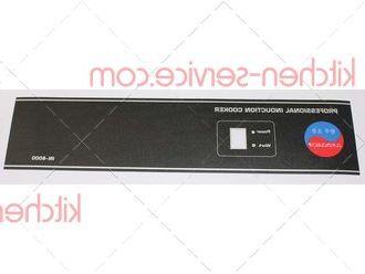 Наклейка панели управления для плиты индукционной IN8000 INDOKOR (A6989)