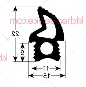 Уплотнение двери FO3PSA0039 для печи пароконвекционной т.м. VORTMAX (ВОРТМАКС) , серии PC