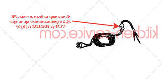 Фиксатор кабеля метал. PR 15,2 вертикального куттера VCM-41 HALLDE (15636)