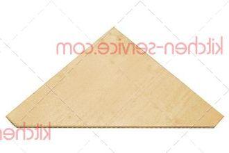 Плита огнеупорная треугольная 590x590x19 мм для печи Cuppone