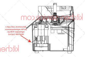 Двигатель 220-240 1 50/60 вертикального куттера VCB-32 HALLDE (15711)