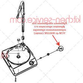 Рукоятка поворотная для функции пульсации 0-1 вертикального куттера VCM-41 HALLDE (22091)