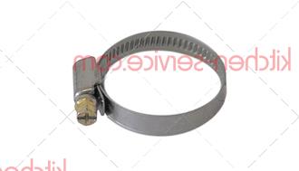 Хомут шланговый нержав.сталь/сталь 25-40мм для ELFRAMO (00003621)