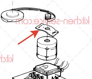 Опорная пластина двигателя RIC-PIAST-MOT-10 PASQUINI для PSP 700 10 кг (№17)