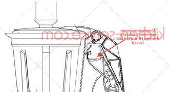 Микровыключатель, кронштейн 120-240 В блендера SB-4L-2 HALLDE (23313)