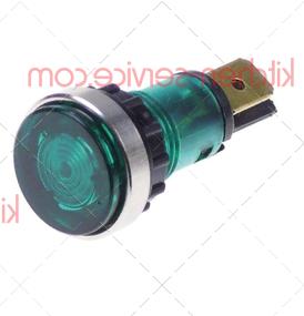 Лампа индикаторная зеленая 230В MODULAR (963.012.00)