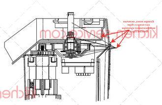 Камера ножа, включая вал ножа в сборе вертикального куттера VCB-32 HALLDE (1412)