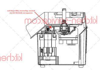 Ремень зубчатый 3MR 0408 для овощерезки HALLDE RG-50