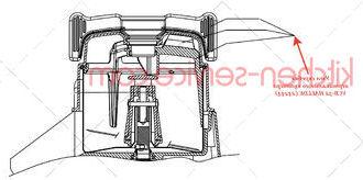 Узел скребка вертикального куттера VCB-32 HALLDE (24244)