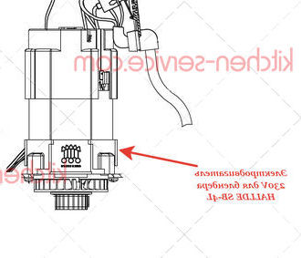 Электродвигатель 230V для блендера HALLDE SB-4L
