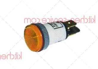 Лампа индикаторная оранжевая 400В MODULAR (663.001.00)