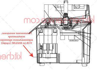 Уплотнение кольцевое, вентилятор вертикального куттера VCB-32 HALLDE (24296)