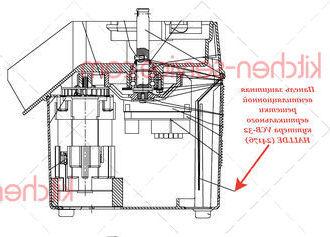 Панель защитная вентиляционной решетки вертикального куттера VCB-32 HALLDE (24176)