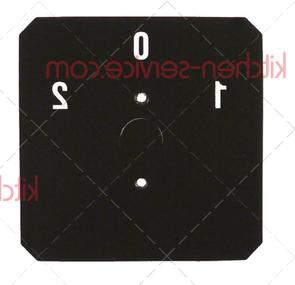Самоклеящаяся этикетка 1-0-2 черная 58x58 мм ASTORIA C.M.A. (29067)