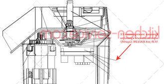 Крышка электроники UL вертикального куттера VCB-31S HALLDE (24268)
