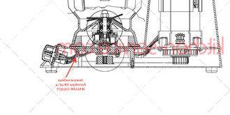 Зажим кабеля блендера SB-4L-2 HALLDE (15357)