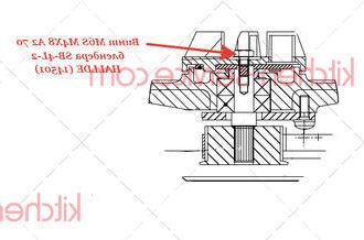 Винт M6S M4X8 A2 70 блендера SB-4L-2 HALLDE (14501)