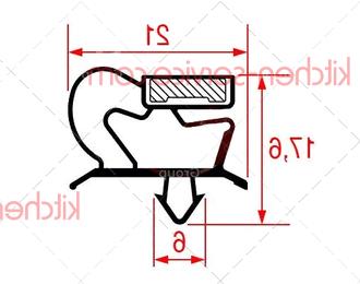 Уплотнитель вставной 445х195 мм MODULAR (752.012.00)