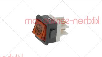 Выключатель балансирный кнопочный 250 В, 16 А для COMENDA (130423)