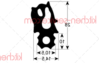 Уплотнение 20.00.396P(20.01.802P) для пароконвектомата Rational SCC-CM101