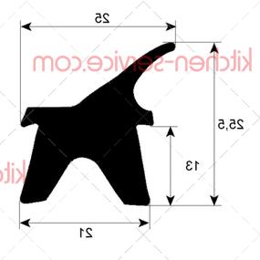 Уплотнитель дверной 2402 MODULAR (RRC2215-02)