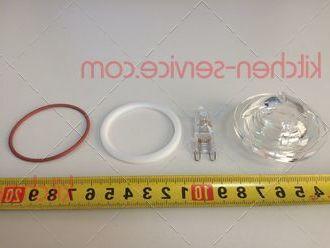 Плафон термостойкий VE1010A0, VT1195A0, KVT1195A с лампой галогеновой в комплекте для печи UNOX. VITRE COUVRELAMPE