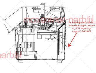 Плата электронная CC 110v,60 вертикального куттера VCB-32 HALLDE (24344)